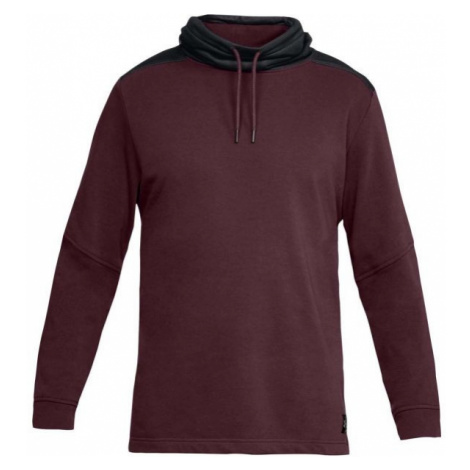 Under Armour THREADBORNE TERRY MOCK red wine - Men's sweatshirt