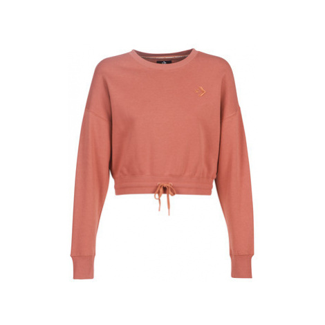 Converse CROPPED CREW women's Sweatshirt in Pink