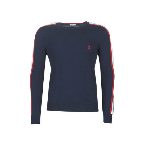 U.S Polo Assn. TRICOLOR CREW/N KNIT men's Sweater in Blue U.S. Polo Assn