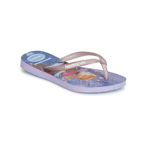 Havaianas KIDS SLIM FROZEN girls's Children's Flip flops / Sandals in Purple