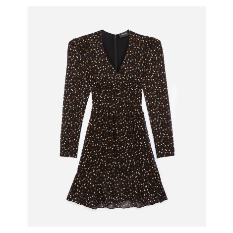 The Kooples - Short buttoned dress with polka-dot print - WOMEN