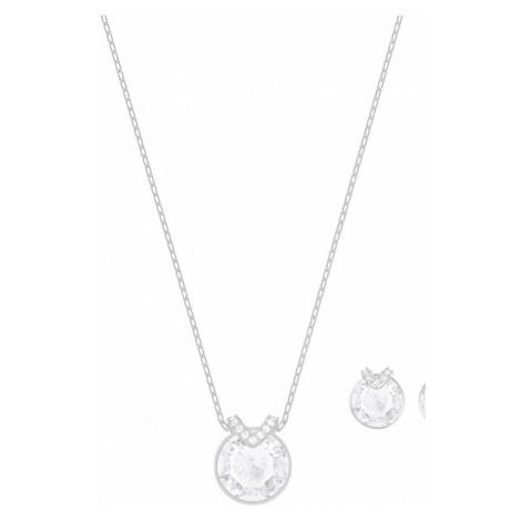 Ladies Swarovski Silver Plated Bella Earring & Necklace Set 5299319
