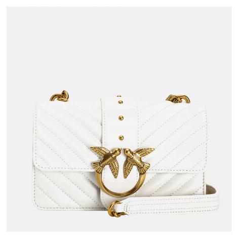 Pinko Women's Love Mini Icon Quilt Shoulder Bag - White