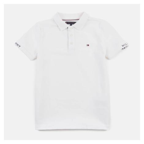 Tommy Hilfiger Boys' Slim Fit Polo-Shirt - White