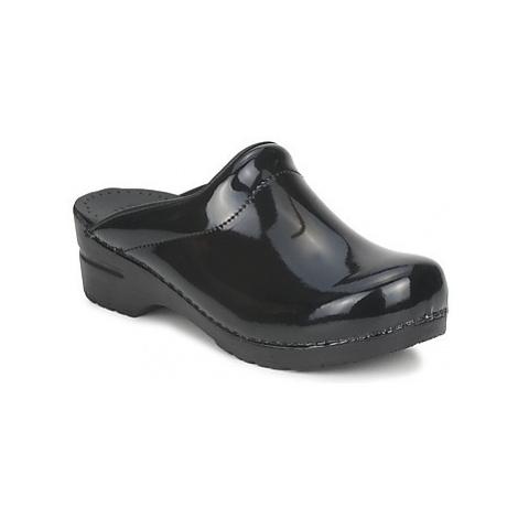 Sanita SONJA OPEN women's Clogs (Shoes) in Black