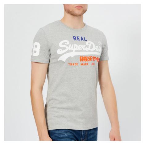 Superdry Men's Vintage Logo Tri T-Shirt - Montana Grey Grit - Grey