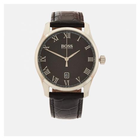 BOSS Hugo Boss Men's Master Leather Strap Watch - Rouge/Black