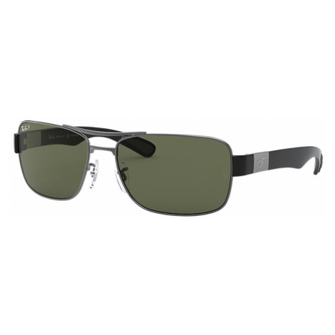 Ray-Ban Rb3522 Man Sunglasses Lenses: Green Polarized, Frame: Gunmetal - RB3522 004/9A 64-17