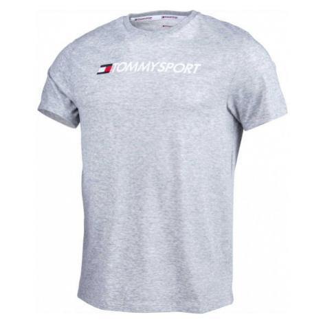 Tommy Hilfiger CHEST LOGO TOP grey - Men's T-shirt