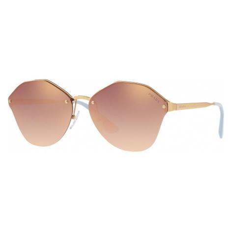 Prada Woman PR 64TS - Frame color: Gold, Lens color: Pink, Size 66-15/140