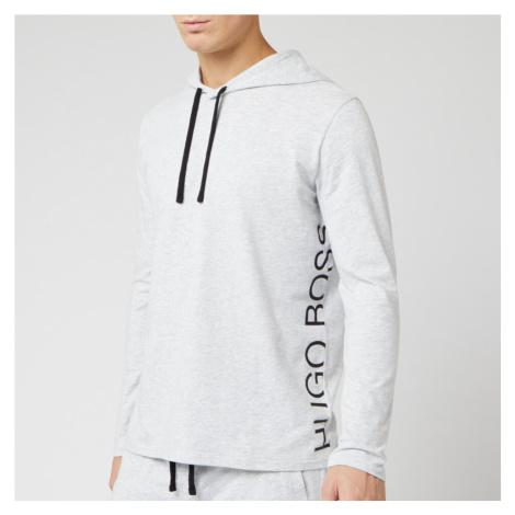 BOSS Men's Nightwear Identity Long Sleeve Hooded T-Shirt - Grey Hugo Boss