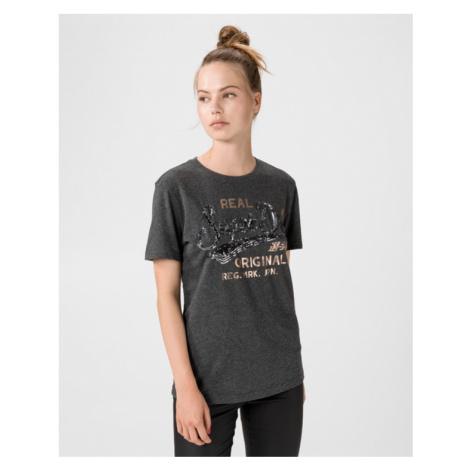 SuperDry Script Sequin T-shirt Grey