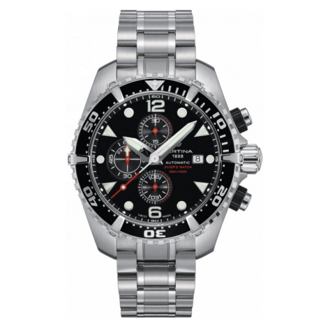 Mens Certina DS Action Diver Automatic Chronograph Watch C0324271105100
