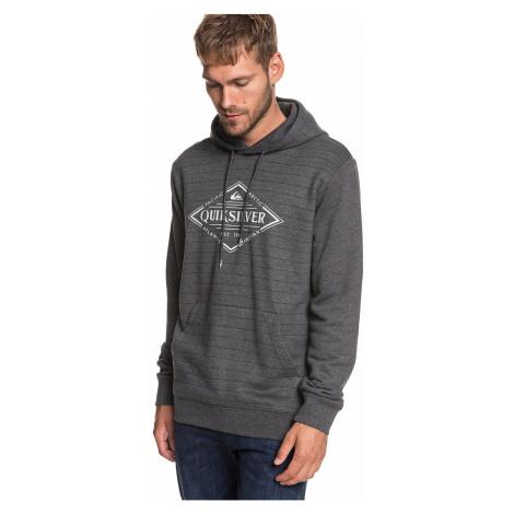 sweatshirt Quiksilver X Elite - MGH3/Medium Gray Heather Screen Hoodie Stripes - men´s