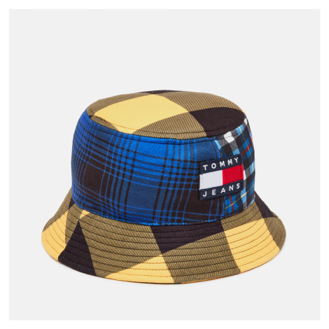 Tommy Jeans Men's Heritage Bucket Hat - Blue/Yellow Check Tommy Hilfiger