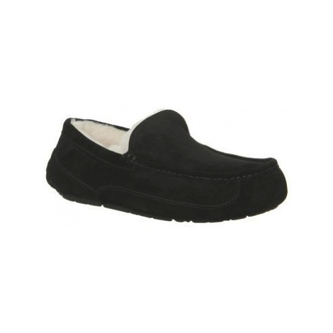 UGG Ascot Slippers BLACK SUEDE NEW