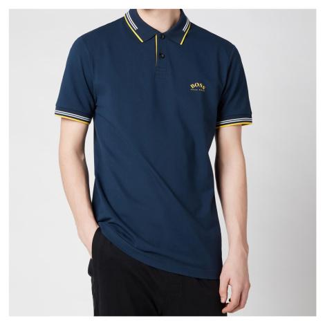 BOSS Athleisure Men's Paul Curved Logo Polo Shirt - Dark Blue Hugo Boss