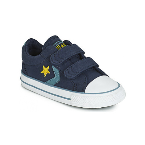 Converse STAR PLAYER 2V CANVAS OX boys's Children's Shoes (Trainers) in Blue