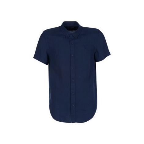 Timberland SS MILL RIVER LINEN SHIRT SLIM men's Short sleeved Shirt in Blue