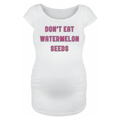 Maternity fashion Don't Eat Watermelon Seeds T-Shirt white