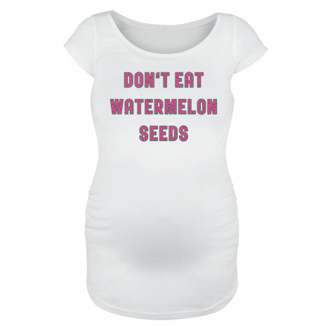 Maternity fashion Don't Eat Watermelon Seeds T-Shirt white