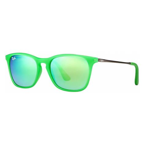 Ray-Ban Chris junior Unisex Sunglasses Lenses: Green, Frame: Gunmetal - RJ9061S 70073R 49-15
