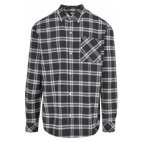 Urban Classics - Oversized Check Shirt - Shirt - blue-white