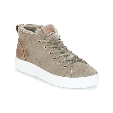 Blackstone QL48 women's Shoes (High-top Trainers) in Beige