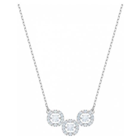 Swarovski Sparkling Dance White Crystal Trilogy Necklace