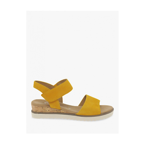 Gabor Raynor Suede Wide Fit Sandals, Mango