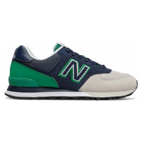 New Balance ML574UPZ green - Men's leisure shoes