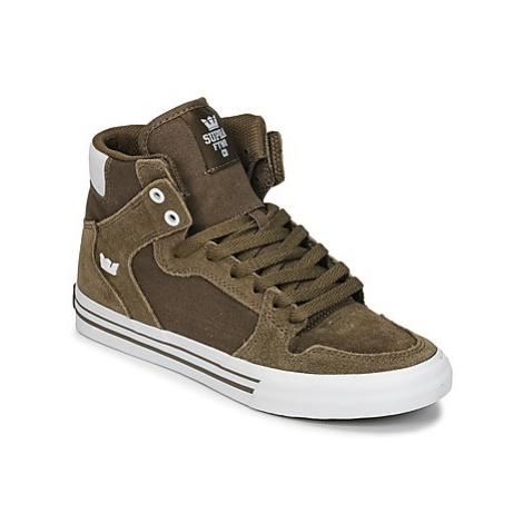 Supra VAIDER women's Shoes (High-top Trainers) in Kaki