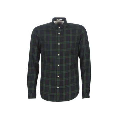 Selected SLHSLIMWOOD men's Long sleeved Shirt in Blue