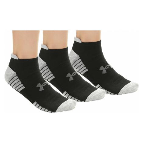 socks Under Armour HeatGear Tech Golf No Show 3 Pack - 001/Black/Gray - men´s
