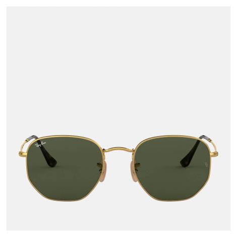 Ray-Ban Women's Hexagonal Metal Sunglasses - Gold