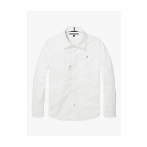 Tommy Hilfiger Boys' Organic Cotton Stretch Slim Fit Poplin Shirt