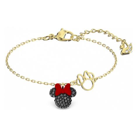 Swarovski Minnie Black Crystal Gold Plated Bracelet