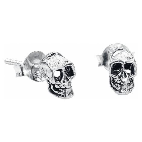 EtNox - Skull - Earpin set - silver-coloured