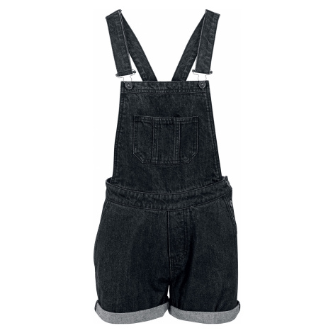 Urban Classics - Ladies Short Bib Overall - Girls Dungarees - black