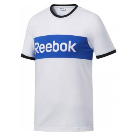 Reebok TE LINEAR LOGO COLOR BLOCKED SS TEE white - Men's T-shirt