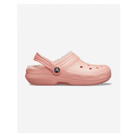 Crocs Classic Fuzz Lined Clog Crocs Pink Beige