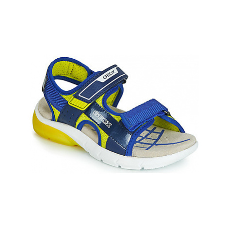 Geox J SANDAL FLEXYPER BO boys's Children's Sandals in Blue