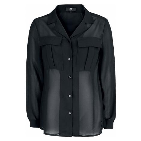 Black Premium by EMP - Black Premium Semi-Transparent Blouse - Girls Blouse - black