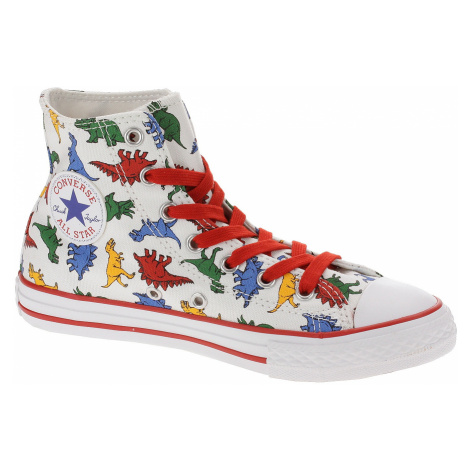 shoes Converse Chuck Taylor All Star Dinoverse Hi - 663636/White/Enamel Red/Totally Blue - unise