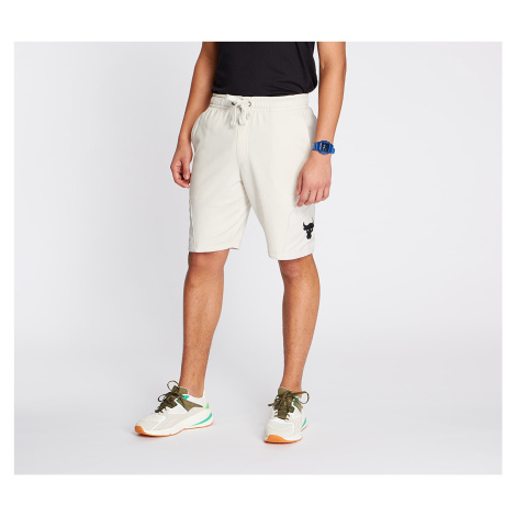 Under Armour Project Rock Terry Shorts Summit White/ Black