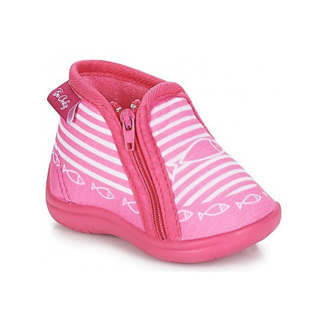 Pink girls' home shoes