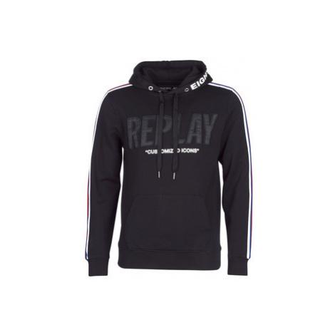 Replay PARAM men's Sweatshirt in Black