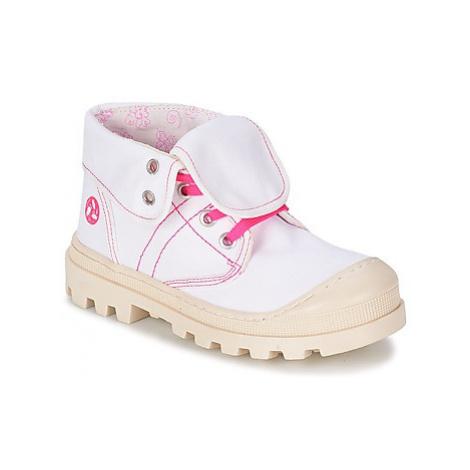 Citrouille et Compagnie BASTINI girls's Children's Mid Boots in White