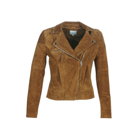 Vila VICRIS women's Leather jacket in Brown