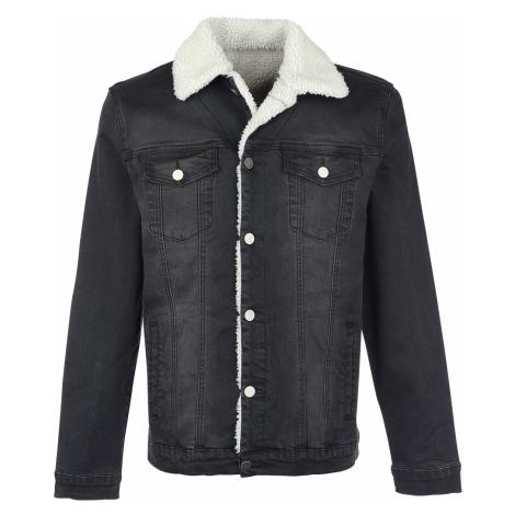 Forplay - Jeans Jacket with Berber Fleece Lining - Jacket - black